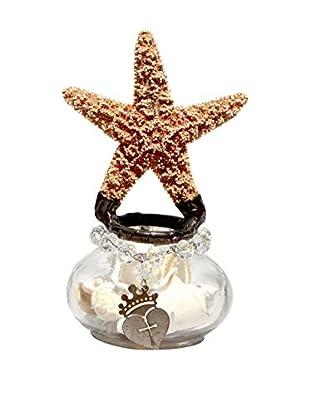Theresa Seidel Small Star Glass Jar, Clear/Tan/Black/Multi
