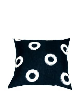 Filling Spaces Ikat Handloomed Pillow, Indigo