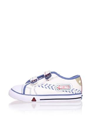 Pablosky Kid's Embellished Sneaker (White)