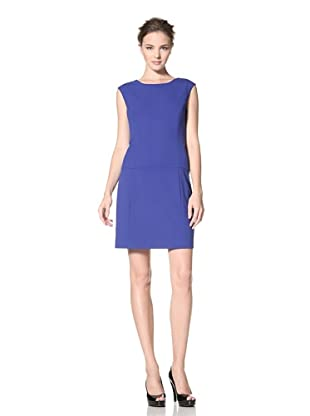 Calvin Klein Women's Cap Sleeve Solid Dress (Atlantis)