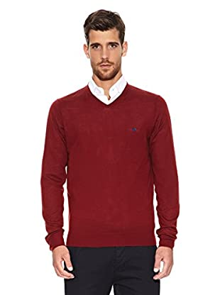 Caramelo Jersey Alfred (Rojo Oscuro)