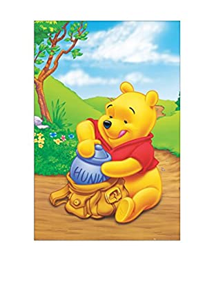 Artopweb Panel Decorativo Winnie Pooh 90x60 cm Bordo Nero