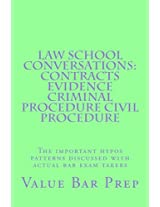 Law School Conversations: Contracts Evidence Criminal Procedure Civil Procedure; the Important Hypos Patterns Discussed With Actual Bar Exam Takers