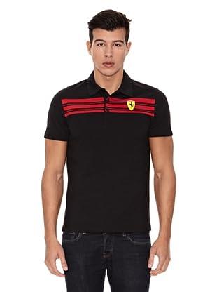 Ferrari Polo shirt Striped (Negro)