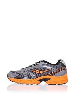 Saucony Kid's Cohesion 4 LTT Athletic Shoe (Toddler/Little Kid/Big Kid) (Grey/Black/Orange)