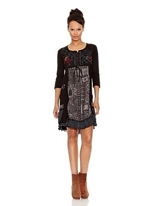 Desigual Vestido Sombra (Negro Estampado)