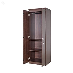 Zuari Wardrobe Two-Door with Honey Brown Finish - Economic