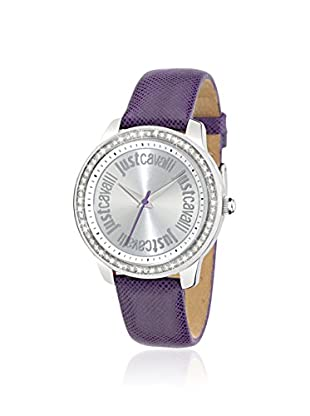 Just Cavalli Women's R7251196501 Shiny Purple/Silver Leather Watch
