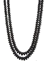 Exotic India Two Strand Black Spinel Necklace -