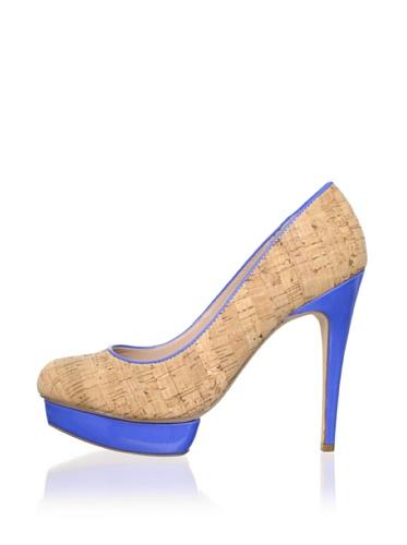 DV by Dolce Vita Women's Bryce Pump (Cork/Bright Blue)