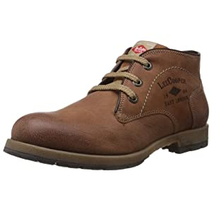 Lee Cooper Men's Tan Leather Boots - 6 UK