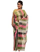 Multicolor Dhakai Jamdani Cotton Silk Saree (JOSR0000091)