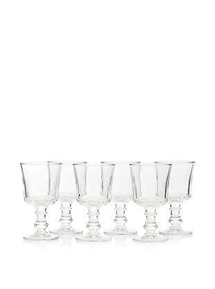 La Rochère Set of 6 Jacques Coeur Décor 8-Oz. Wine Glasses