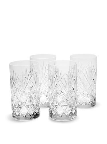 Rogaska Set of 4 Jardin Highball Glasses (Clear)