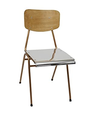 Europe2You Polished Steel Chair