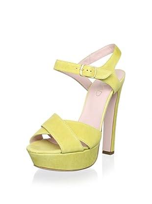Red Valentino Women's High Sandal (Lemon Lime)