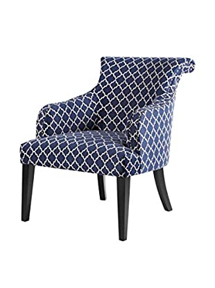 Luxury Home Alexis Accent Chair, Navy