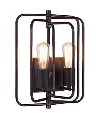 Urban Lights Lewis 2-Light Wall Lamp, Dark Bronze