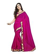 Viva N Diva Pink Color Chiffon Saree.