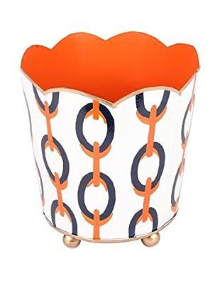 Jayes Chains Decorative Cachepot, Orange