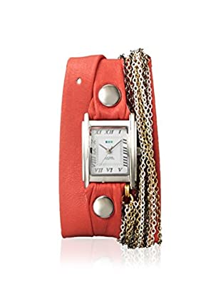 La Mer Collections Women's LMMULTI7606 Venice Chain Coral LeatherWatch