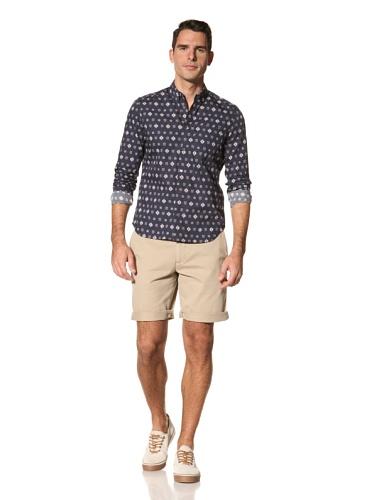 Timo Weiland Men's Bandana Print Long Sleeve Shirt (Navy)