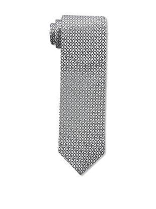 Bruno Piattelli Men's Maze Silk Tie, Silver Black