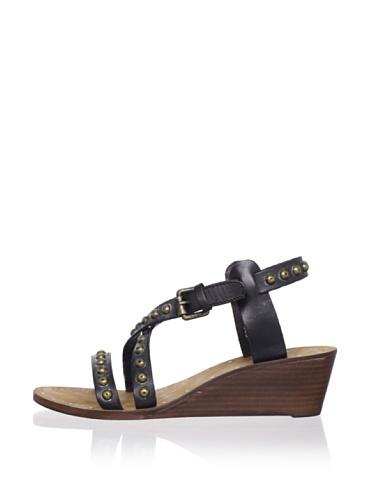 Ash Women's Orchid Bis Wedge Sandal (Black)