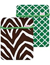Macbeth Collection - Reversible iPad Sleeve in Chocolate Zebra/Apple Ava