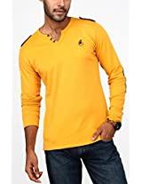 Paani Puri Men's T-Shirt (M220VLE50_Gold_XX-Large)
