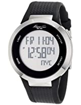 Kenneth Cole Digital Silver Dial Unisex Watch - KC1697