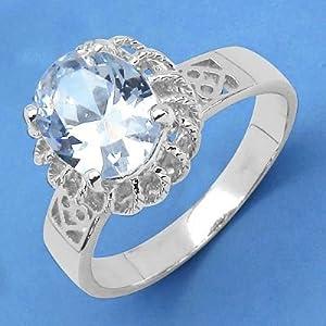 Johareez American Diamond Silver Ring