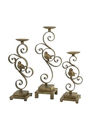 Set of 3 CKI Bristow Candleholders