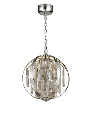 Artistic Lighting Light Cylinders Collection LED Pendant, Polished Chrome