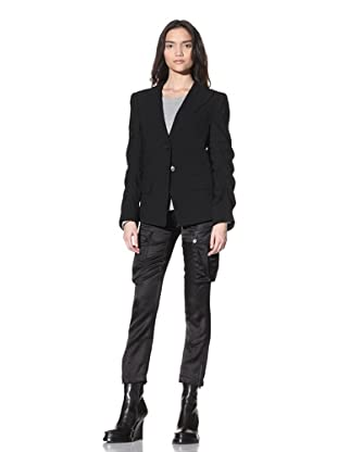 Ann Demeulemeester Women's Two-Button Crepe Jacket (Black)