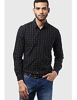Black Check Slim Fit Casual Shirt Wrangler