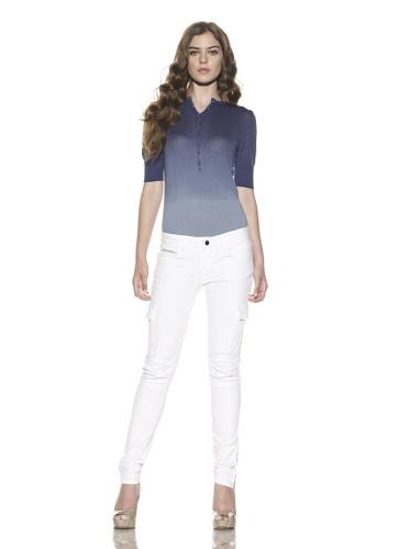 Rockstar Denim Women's Twill Cargo Pant (White)