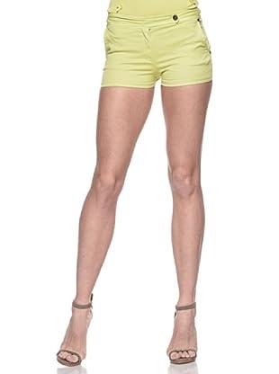 Crema Short Básico Stretch (Verde)