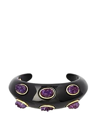 Kara Ross Double Edged Purple Druzy Cuff