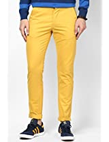 Yellow Solids Chinos