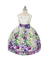 Magic Fairy Girls' Cotton Dress [Mf-303_Lavender_5-6 Years]