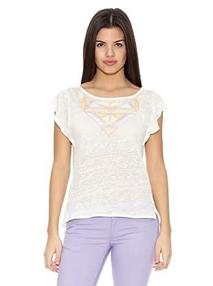 Springfield Camiseta T Triang Cuello (Blanco)