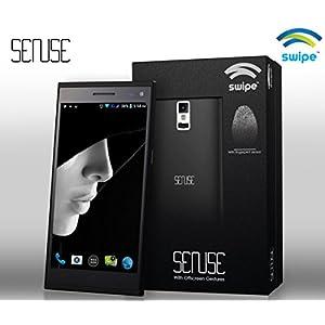 Swipe Sense Finger Print Reader Android Kitkat SmartPhone Free TLX 2200mAh PowerBAnk - Black