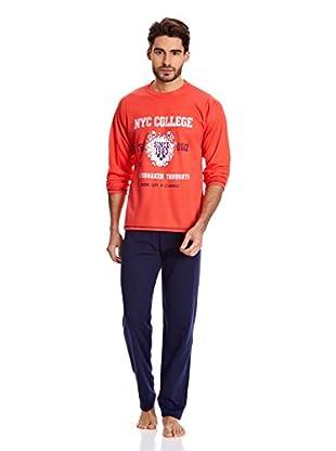 Kumy Pijama Caballero College (Naranja)