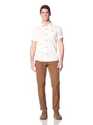 Zanerobe Men's Miami Short Sleeve Woven Shirt (Linen White)