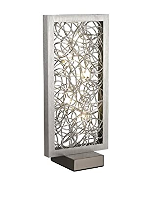 Artistic Lighting Abstract Metalwork LED Table Lamp, Silver