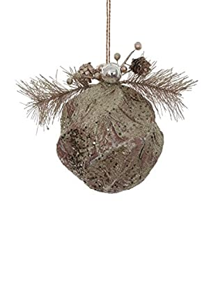 Winward Glittered Paper Birch Ornament, Platinum/Brown