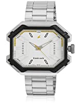3108Sm01-Dc571 Silver Analog Watch Fastrack