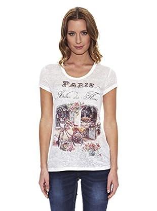 Peace & Love Camiseta Estampada (Blanco)