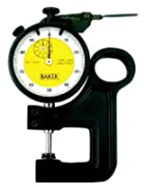 DIAL THICKNESS GAUGE BY BAKER(0.002MM READING ,RANGE 2MM & GRADUATION 0-20)